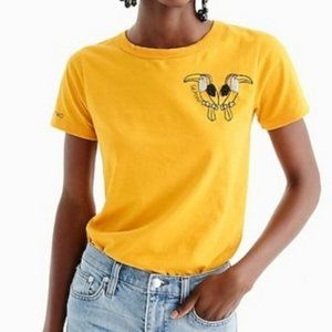 J. Crew Gemini Yellow Top Party Of Two Size Small